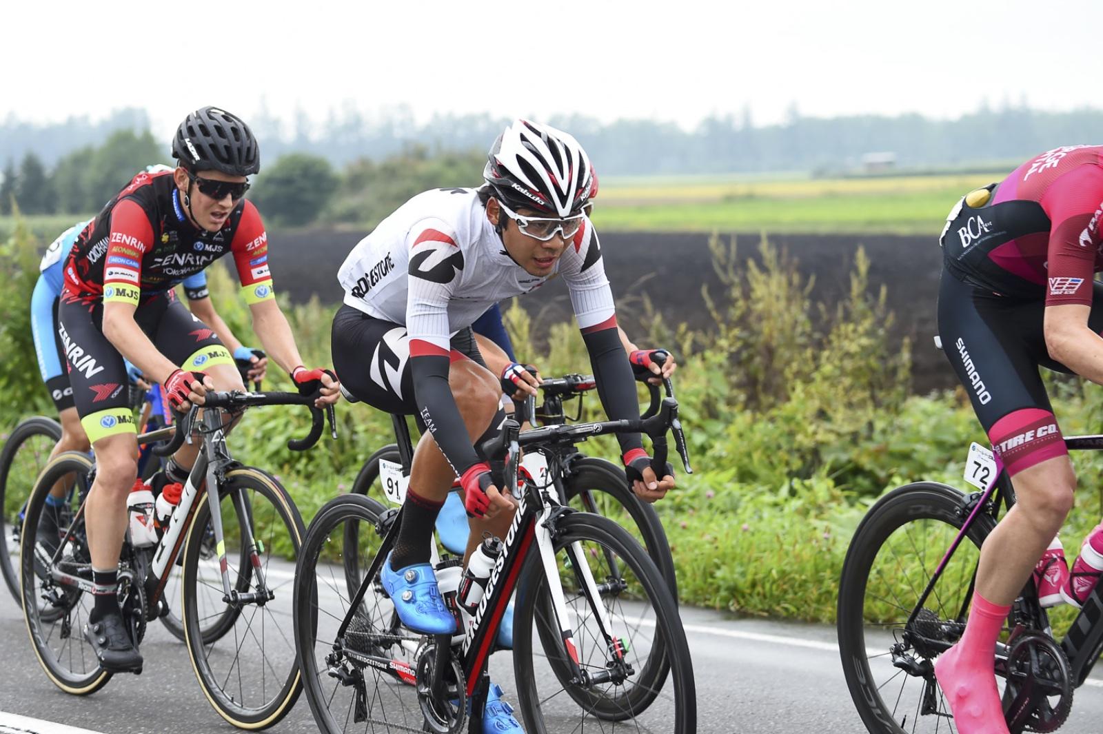 【ツール・ド・北海道】第2ステージ/逃げ続けた石橋、優勝を逃すも2位に