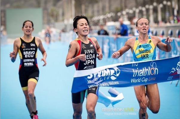 【トライアスロン・ITU W杯】リマ大会 上田選手がゴールスプリントで勝利