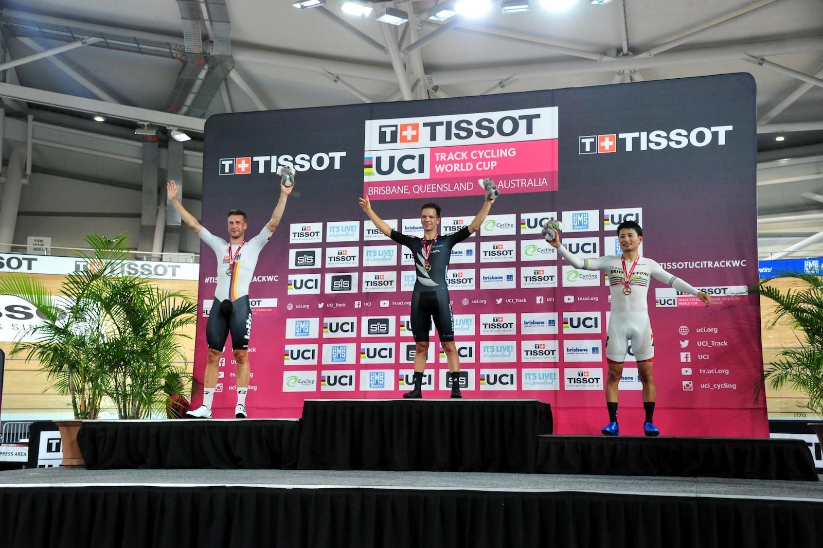 男子オムニアム/橋本が3位に、転倒を喫するも表彰台守りきる【UCIトラック'19-20W杯第5戦 オーストラリア】
