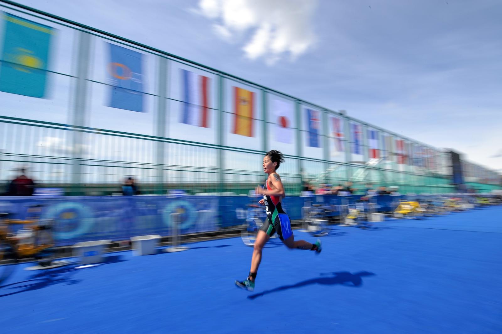 【ITUトライアスロンW杯】上田選手、W杯ヌルスルタン大会で独走優勝、怪我からの復活