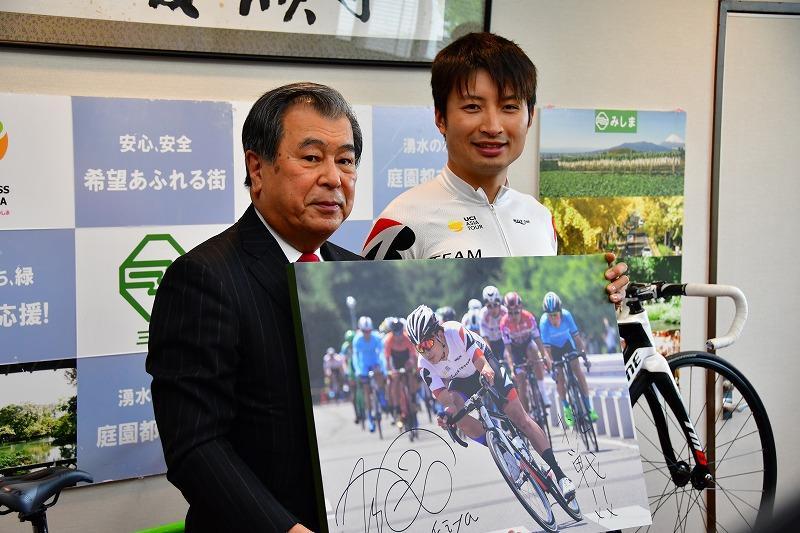 「三島はトレーニングと身体作りに最適な環境です」橋本英也が三島市長を表敬訪問