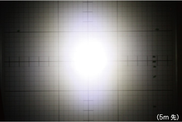 ハイパワーバッテリーライト2.0 明るさ