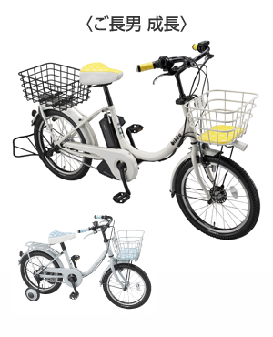 自転車の 自転車 親子乗り : はじめての自転車は親子お揃い ...