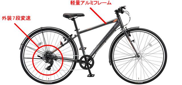 クロスバイクならではの走行性能を実現