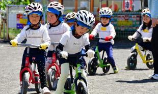 自転車教室の写真